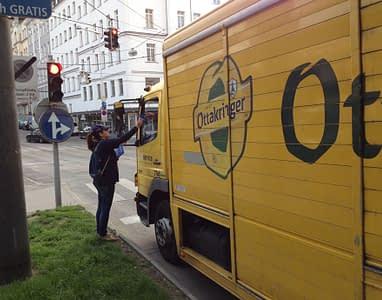 Flyerverteilung Wiener Wasser Agentur Neutor
